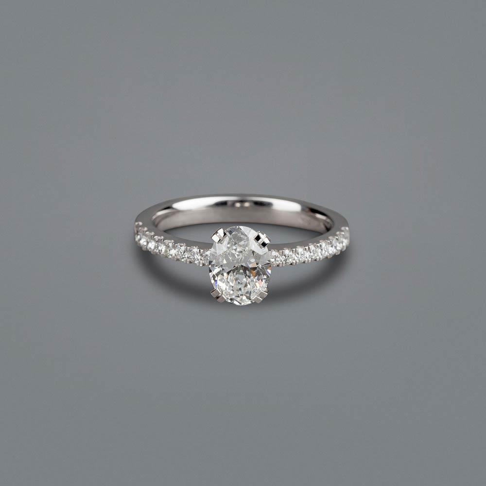 Oval Diamond Engagement Ring Thomas Meihofer Jewellery Design