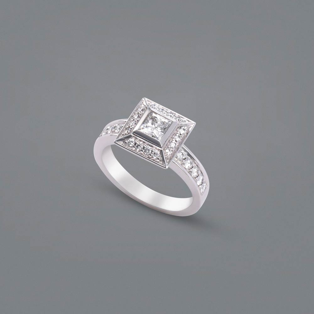 Princess Cut Diamond Engagement Ring Thomas Meihofer Jewellery Design